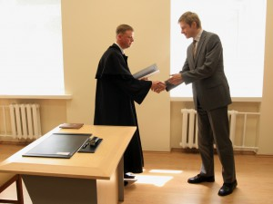 The oath in the Ministry of Justice, 2012.